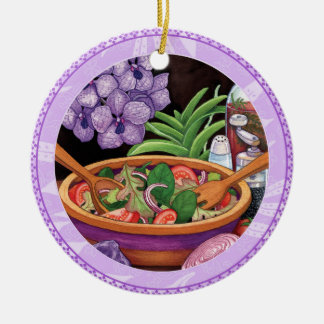 Island Cafe - Tropical Salad Ceramic Ornament