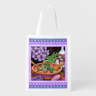 Island Cafe - Tropical Salad Reusable Grocery Bag