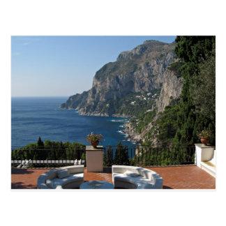 Island Capri, a Nice Terrace View Postcard