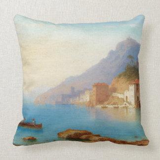 Island Capri Italy Beach Fishermen Throw Pillow