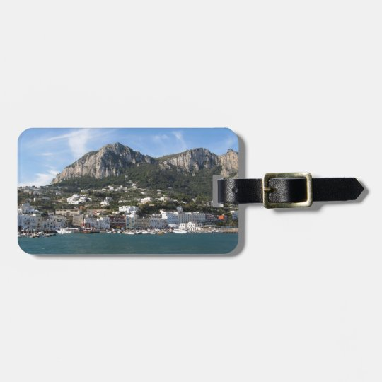 Island Capri panoramic Sea view Luggage Tag