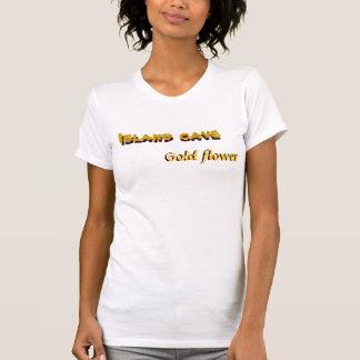Island Cave, Gold Flower Shirt