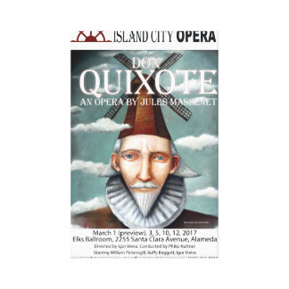 Island City Opera Don Quixote Canvas Poster