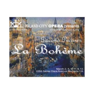 Island City Opera La Boheme Title Projection Canva Canvas Print