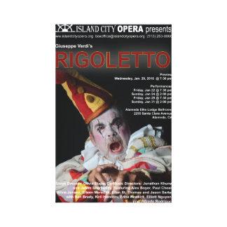 Island City Opera Rigoletto Canvas Poster