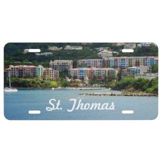 Island Color License Plate