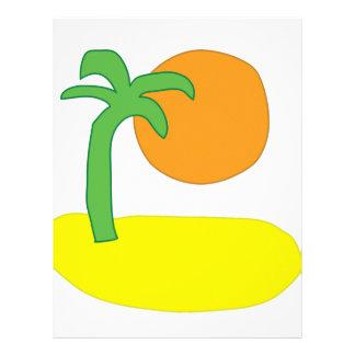Island Drawing Letterhead