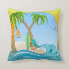 Island Dreams Throw Pillow