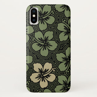 Island Floral Hawaiian Accent Hibiscus Pinstriped Case-Mate iPhone Case