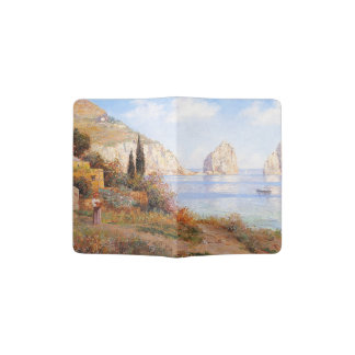 Island Flowers Boats Ocean Italy Passport Holder