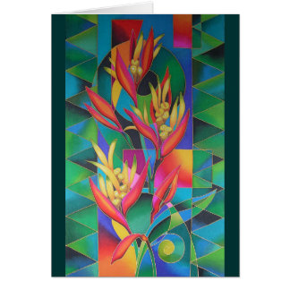 """""""ISLAND FLOWERS ~ HELICONIA"""" CARD"""