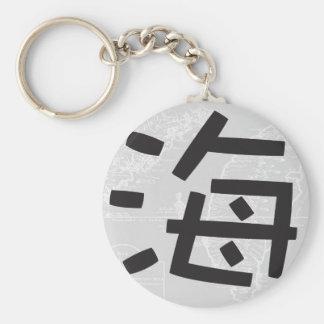 Island Folklore Button Keychain