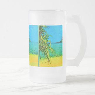 ISLAND GETAWAY 16 OZ FROSTED GLASS BEER MUG