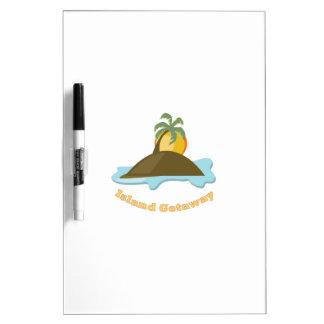 Island Getaway Dry Erase White Board
