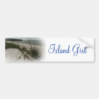 ISLAND GIRL BUMPER STICKER