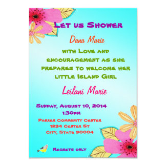 Island girl shower invite