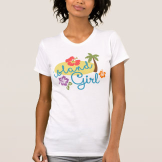 Island Girl - Women's American Apparel Fine Jersey T-Shirt