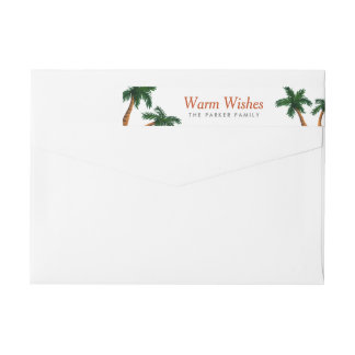 Island Greeting Wrap Around Label