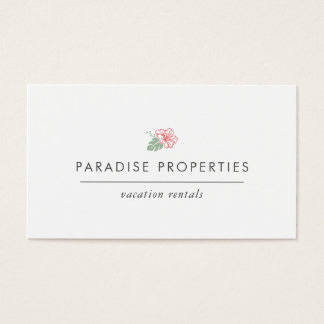 Island Hibiscus Business Card