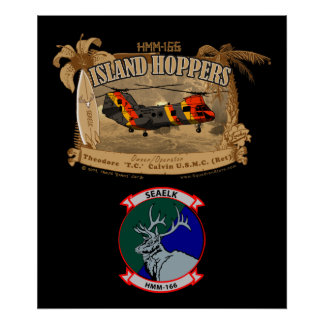 Island Hoppers Poster - with insignia