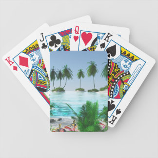 Island Hopping Bicycle Playing Cards