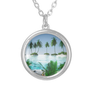 Island Hopping Silver Plated Necklace