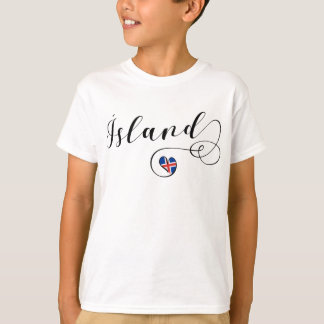 Ísland, Iceland Heart T-Shirt