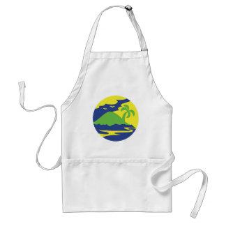 Island in a circle standard apron