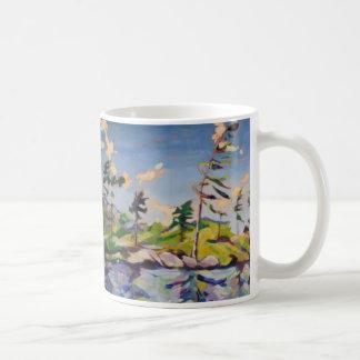 Island Landscape Painting Coffee Mug