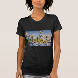 Island Landscape Painting T Shirts