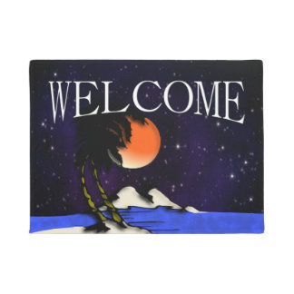 Island Night Design Welcome Doormat