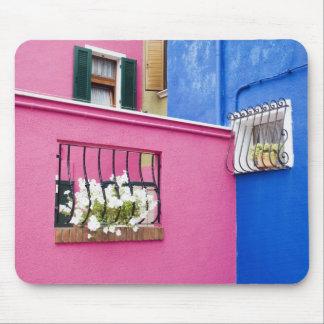 Island of Burano, Burano, Italy. Colorful Burano Mouse Pad