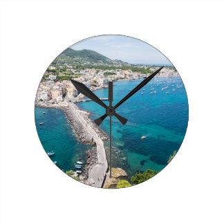 Island of Ischia, Italy Round Clock