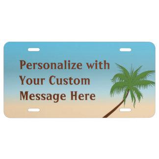 Island Palm Custom License Plate