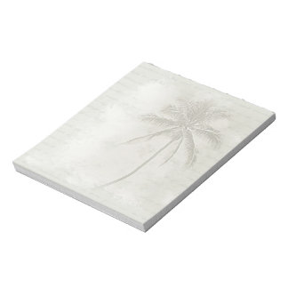 Island Palm Tree Light Beige Notepad