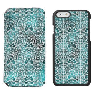 Island Paradise Blue Batik Shibori Damask Incipio Watson™ iPhone 6 Wallet Case