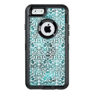 Island Paradise Blue Batik Shibori Damask OtterBox Defender iPhone Case