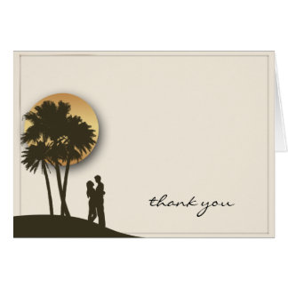 Island Paradise Thank You Card