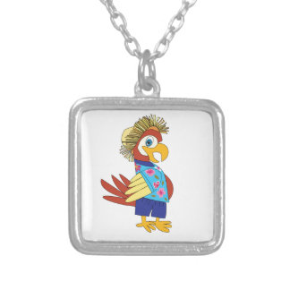 Island Parrot Silver Plated Necklace