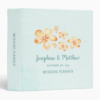 Island Plumeria Personalized Wedding Planner 3 Ring Binder