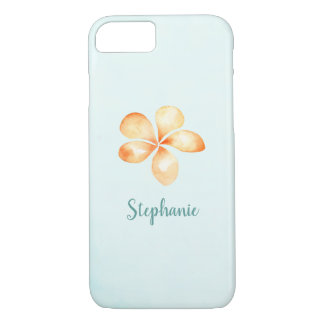 Island Plumeria Watercolor iPhone 8/7 Case