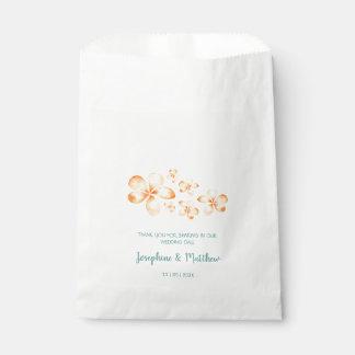 Island Plumeria Watercolor Wedding Favour Bag