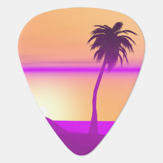 Island Purple and Gold Guitar Pick