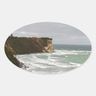 Island reproaches Cape Arkona Oval Sticker