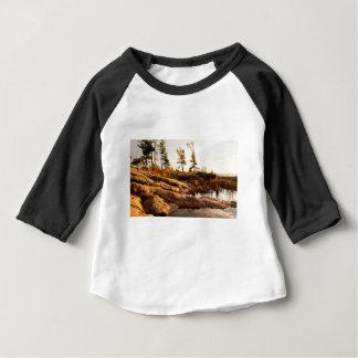 Island rocky shoreline baby T-Shirt