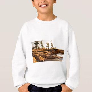 Island rocky shoreline sweatshirt