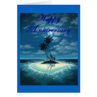 Island-Romance, Happy Anniversary Card