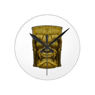 Island Spirits Round Clock