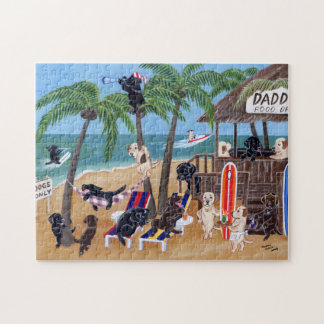 Island Summer Vacation Labradors Jigsaw Puzzle