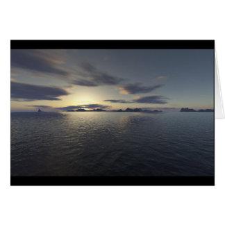 Island Sunrise Card
